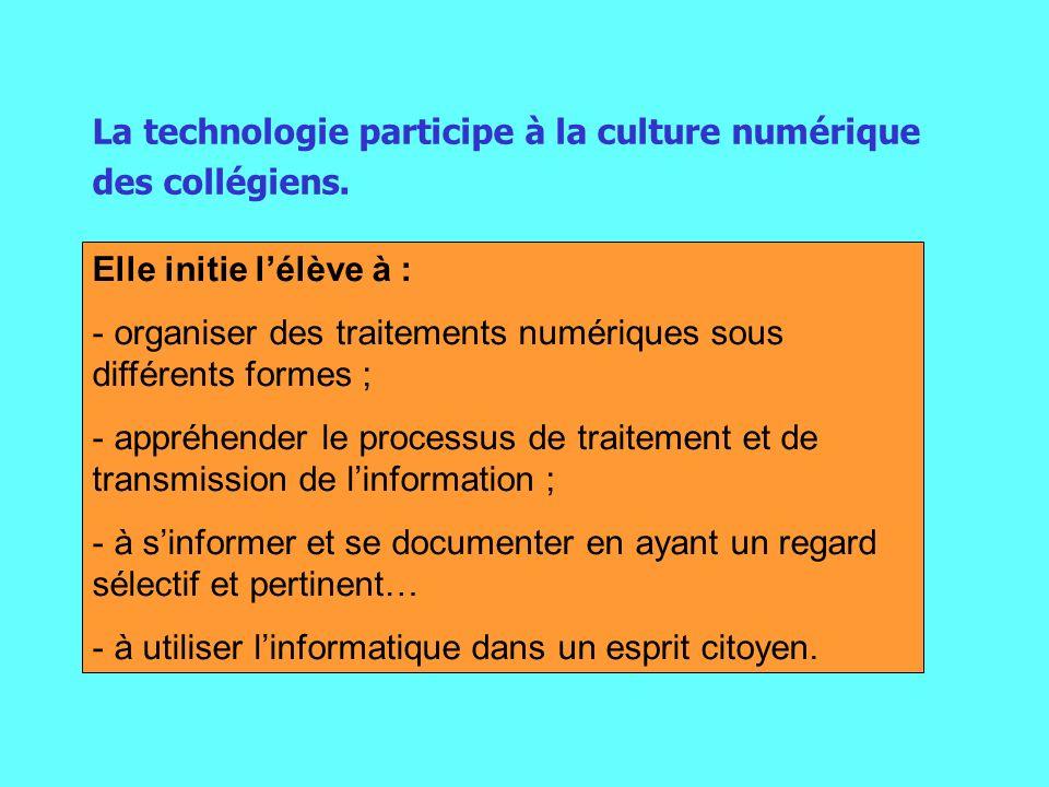 La technologie participe à la culture numérique des collégiens.