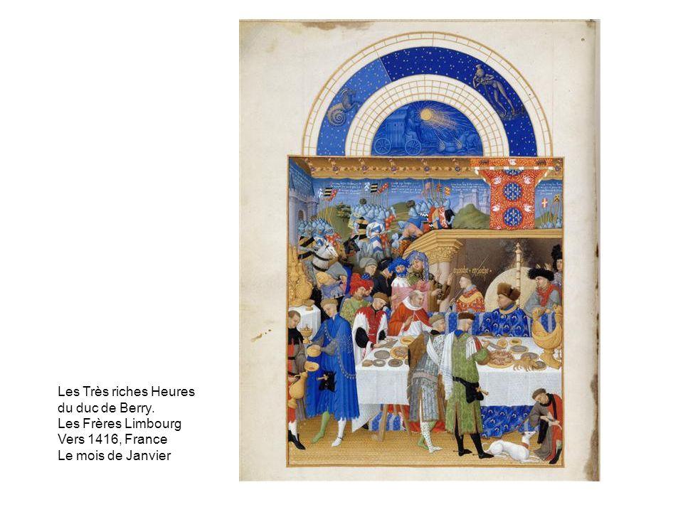 Les Très riches Heures du duc de Berry. Les Frères Limbourg Vers 1416, France Le mois de Janvier