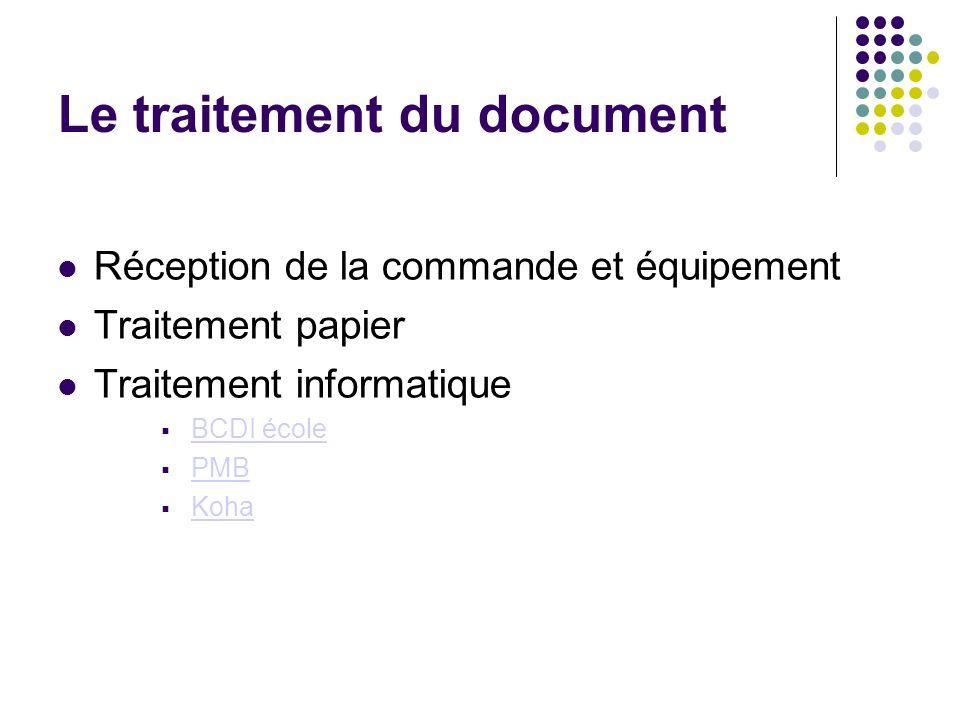 Le traitement du document