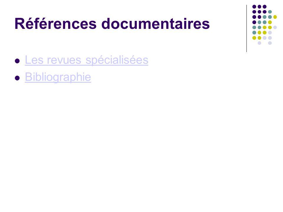 Références documentaires