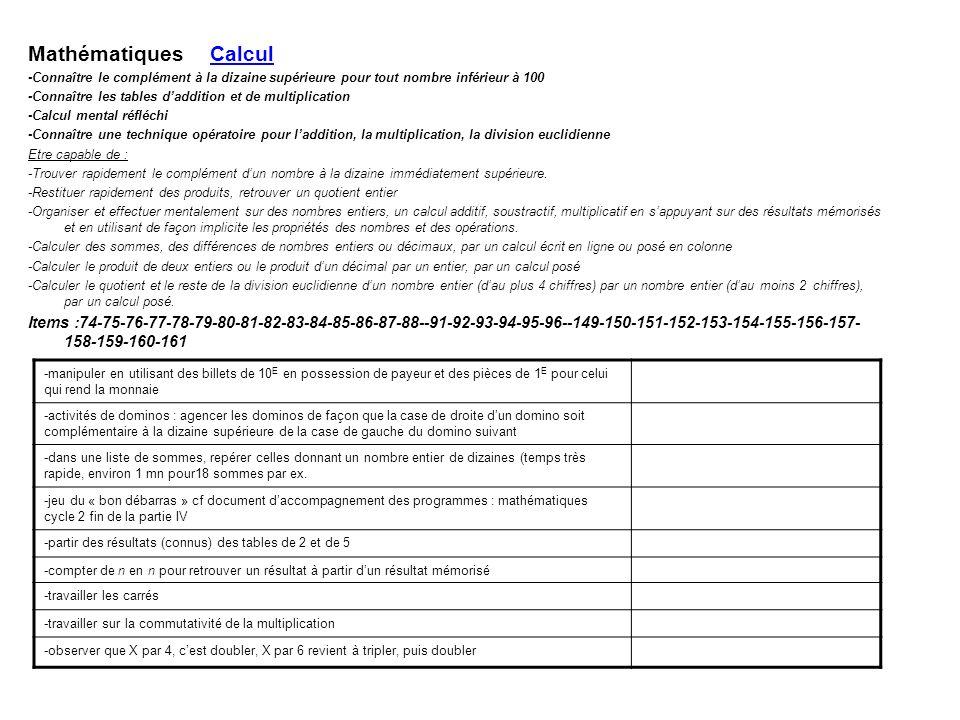 Mathématiques Calcul -Connaître le complément à la dizaine supérieure pour tout nombre inférieur à 100.