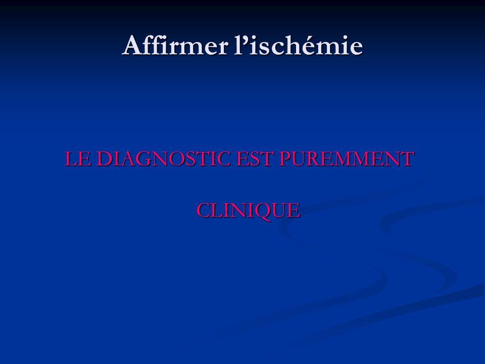 LE DIAGNOSTIC EST PUREMMENT CLINIQUE