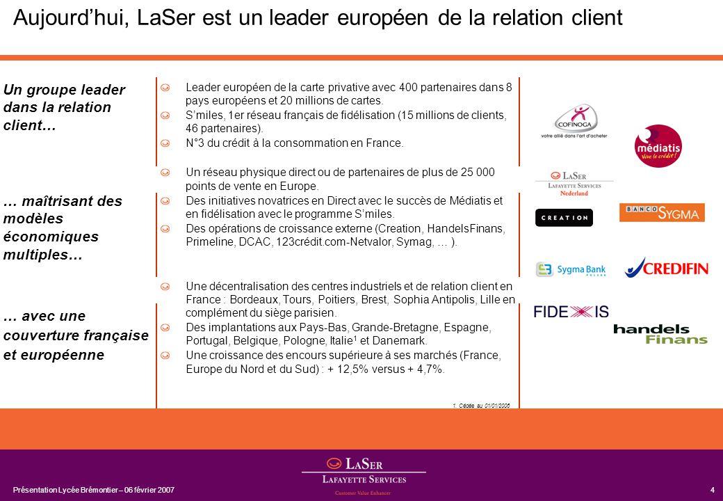 Aujourd'hui, LaSer est un leader européen de la relation client