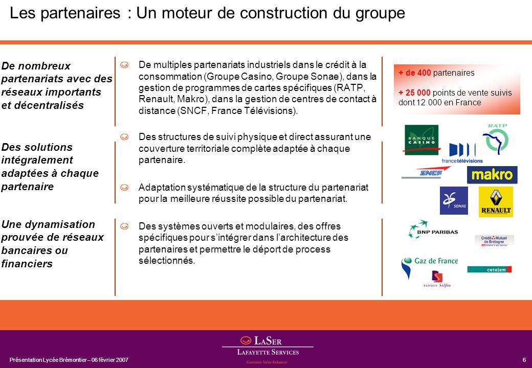 Les partenaires : Un moteur de construction du groupe