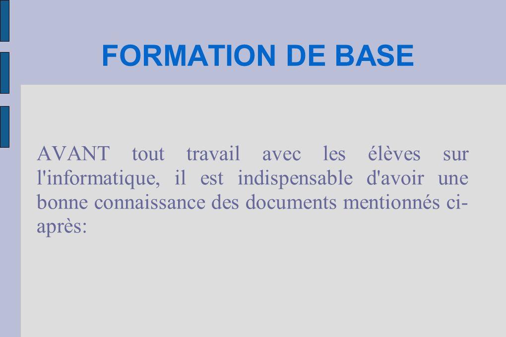 FORMATION DE BASE