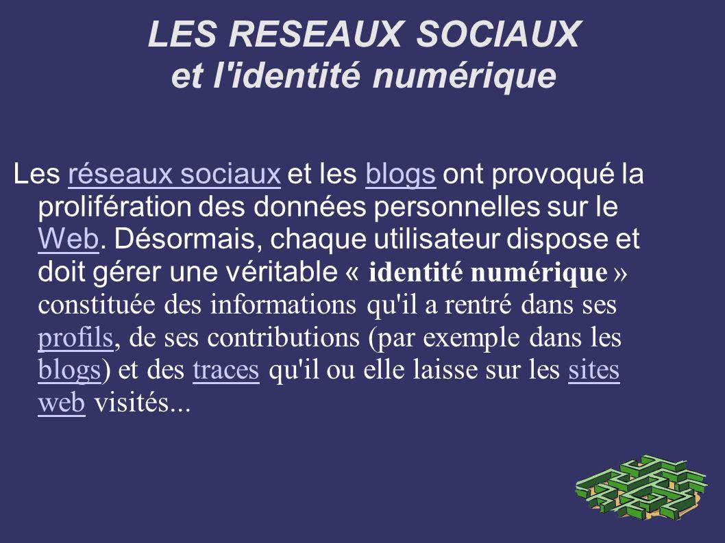 LES RESEAUX SOCIAUX et l identité numérique