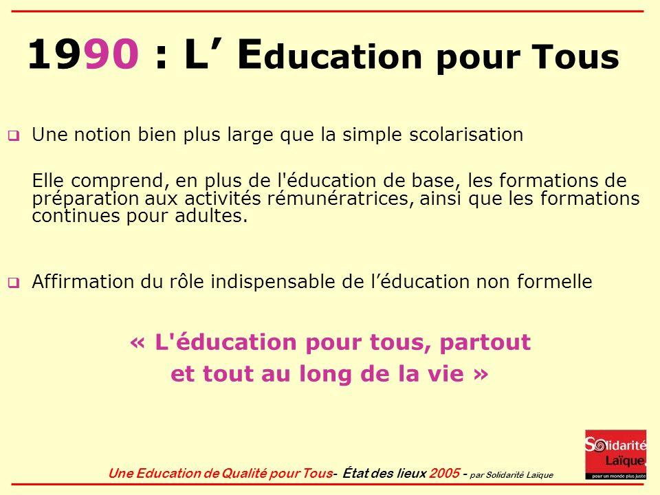1990 : L' Education pour Tous