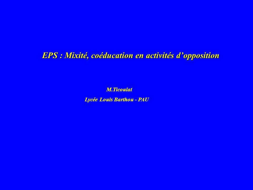 EPS : Mixité, coéducation en activités d'opposition