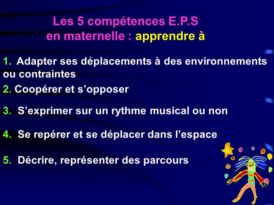 Les 5 compétences E.P.S en maternelle : apprendre à