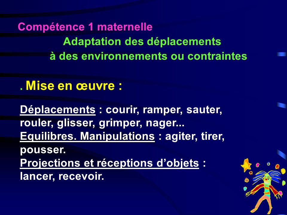 Adaptation des déplacements à des environnements ou contraintes
