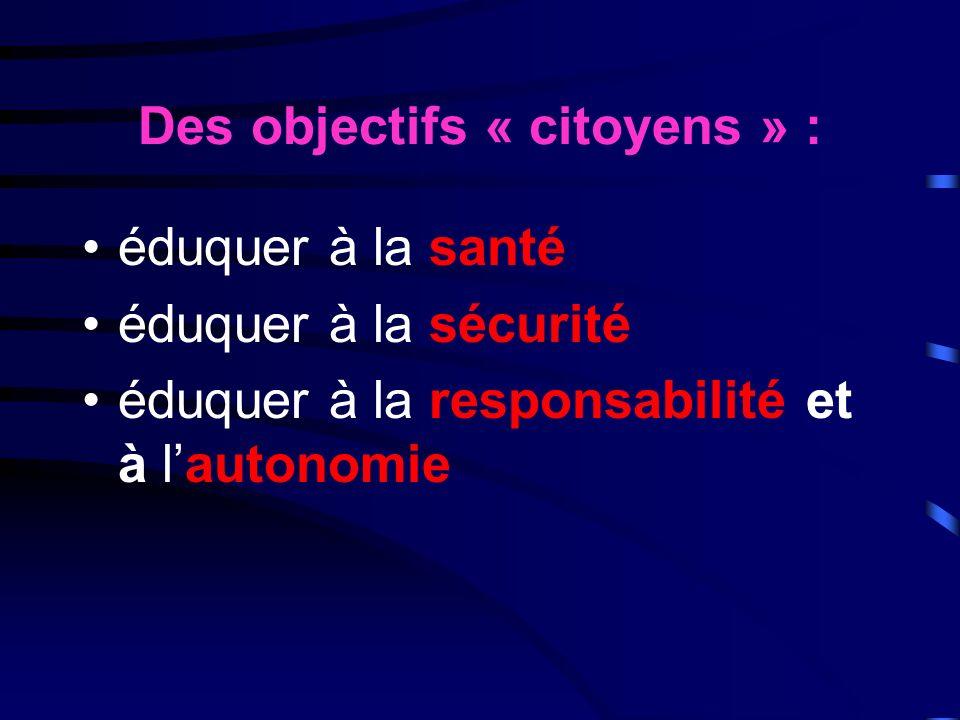 Des objectifs « citoyens » :