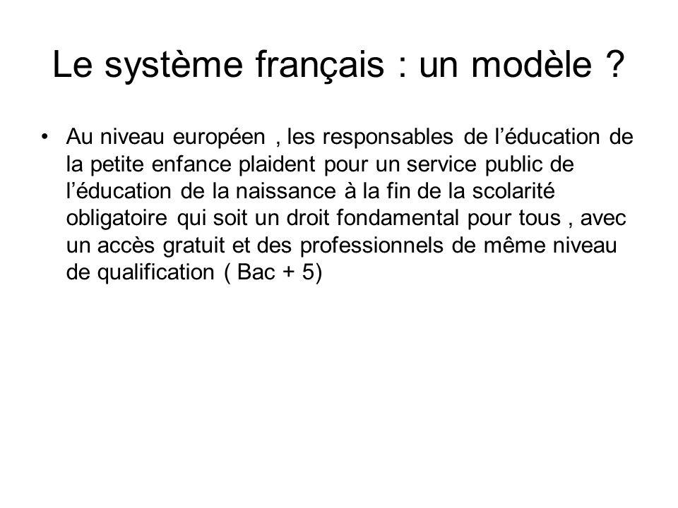Le système français : un modèle