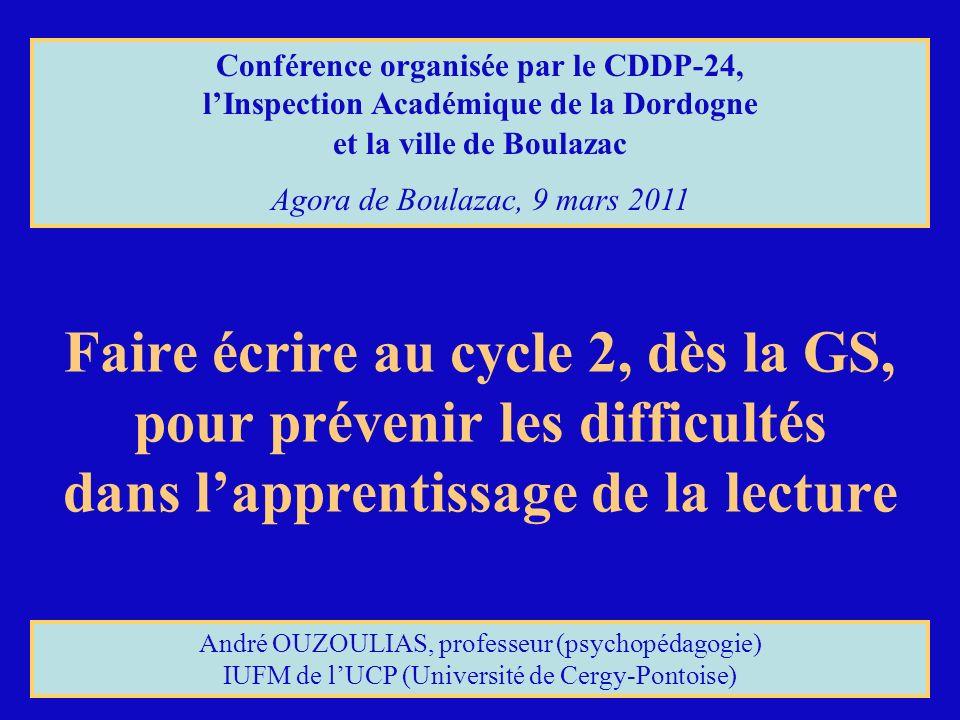 Conférence organisée par le CDDP-24,
