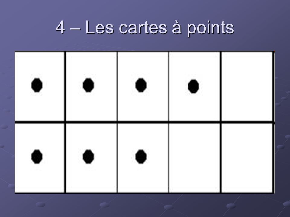 4 – Les cartes à points
