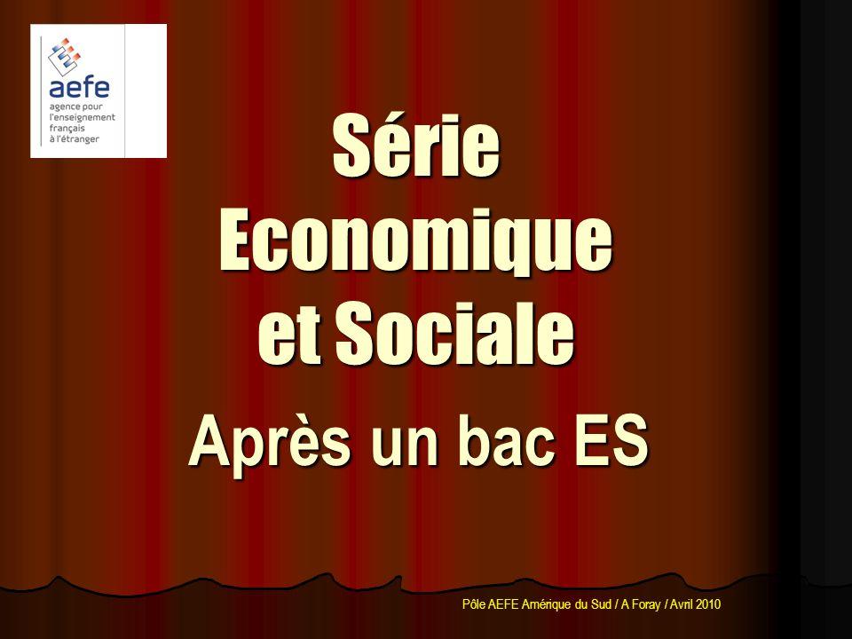 Série Economique et Sociale