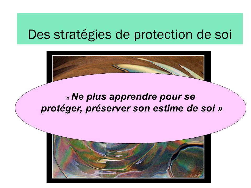 Des stratégies de protection de soi