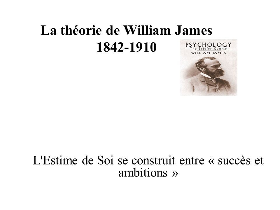 La théorie de William James 1842-1910