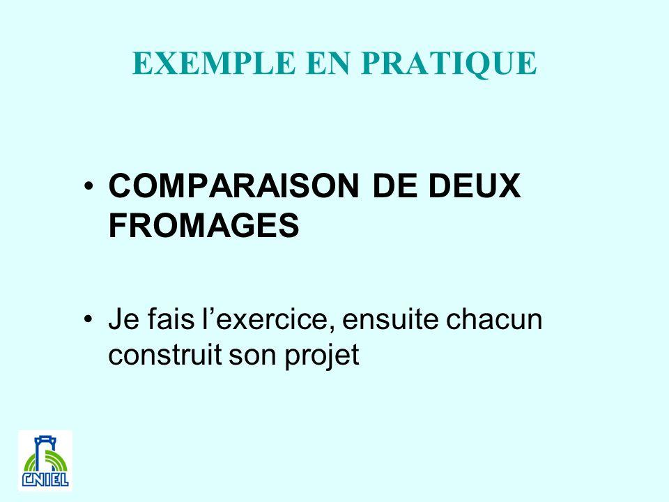 COMPARAISON DE DEUX FROMAGES