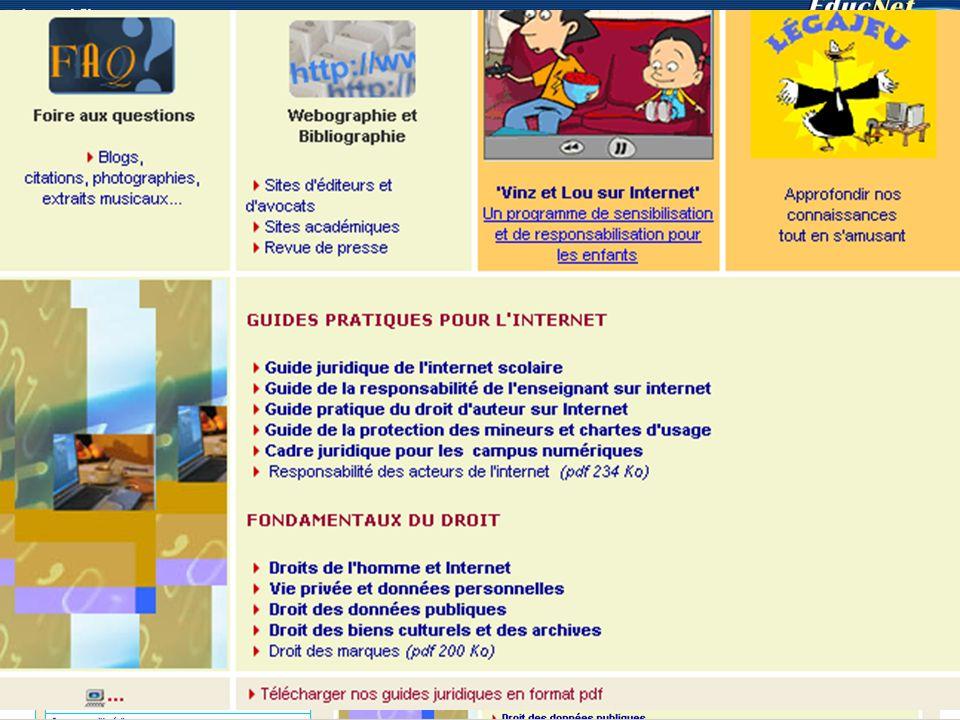 Respecter les règles Legamedia : http://www.educnet.education.fr/legamedia