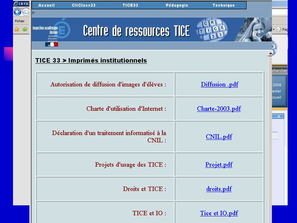 Respecter les règles Portail IA33 : http://ia33.ac-bordeaux.fr