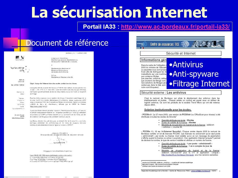 La sécurisation Internet