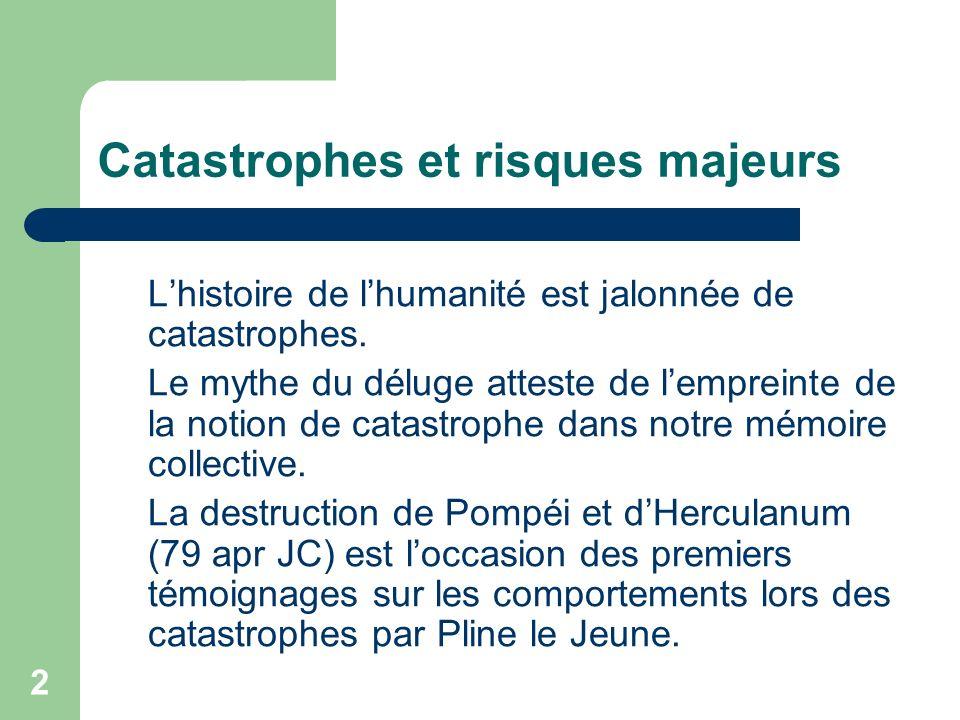 Catastrophes et risques majeurs