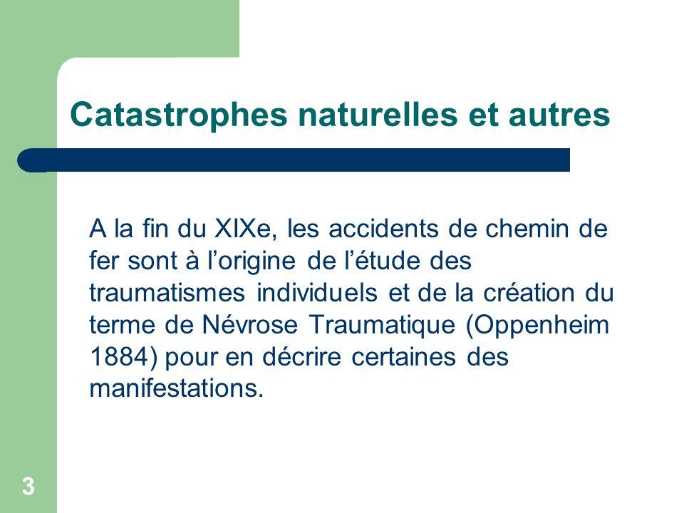 Catastrophes naturelles et autres