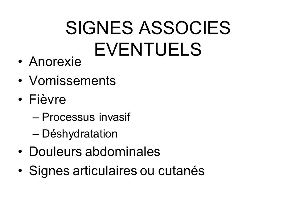 SIGNES ASSOCIES EVENTUELS