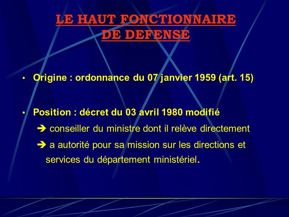 LE HAUT FONCTIONNAIRE DE DEFENSE