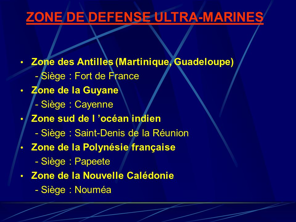 ZONE DE DEFENSE ULTRA-MARINES