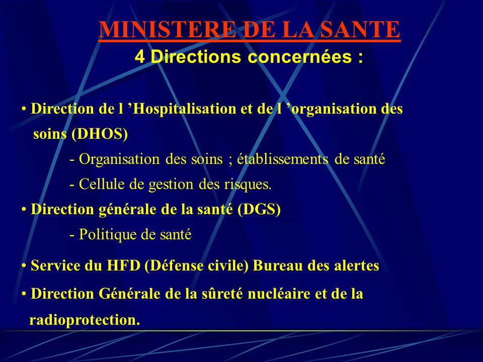 4 Directions concernées :
