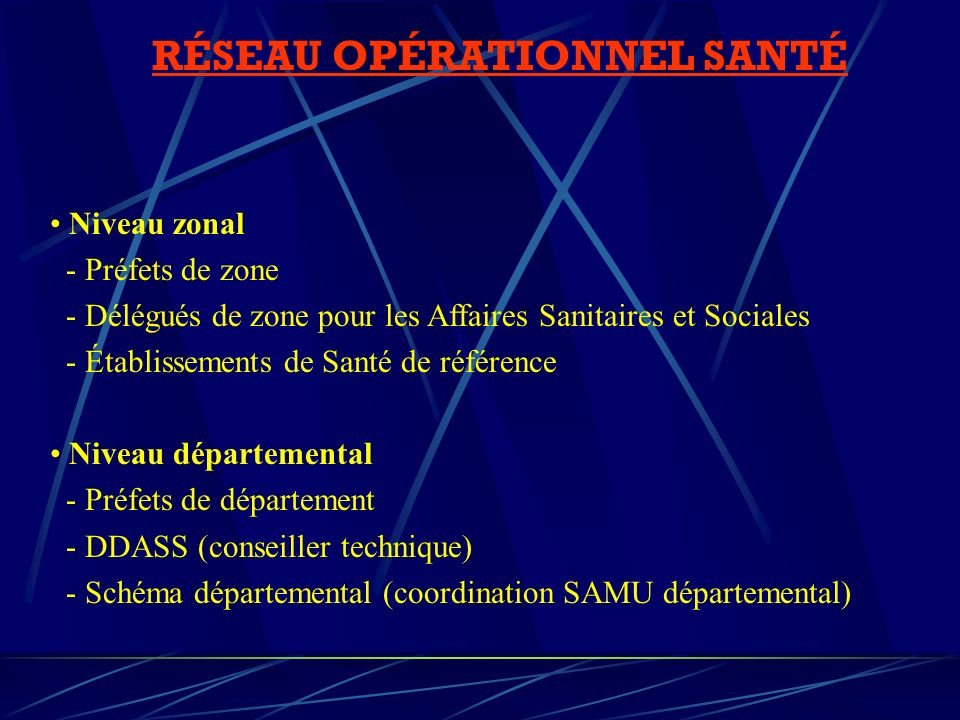 RÉSEAU OPÉRATIONNEL SANTÉ