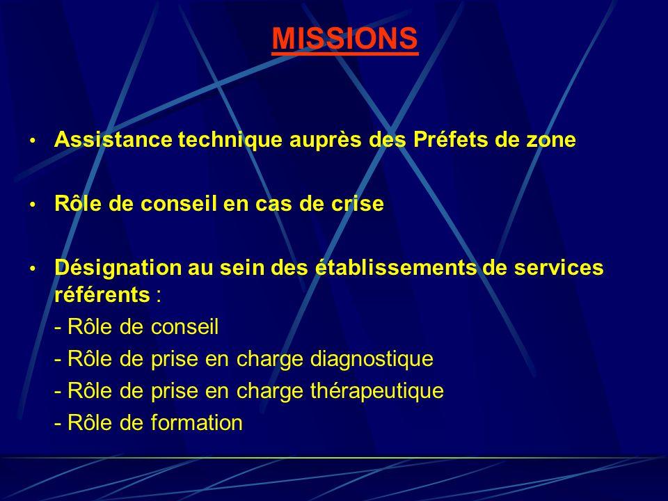 MISSIONS Assistance technique auprès des Préfets de zone