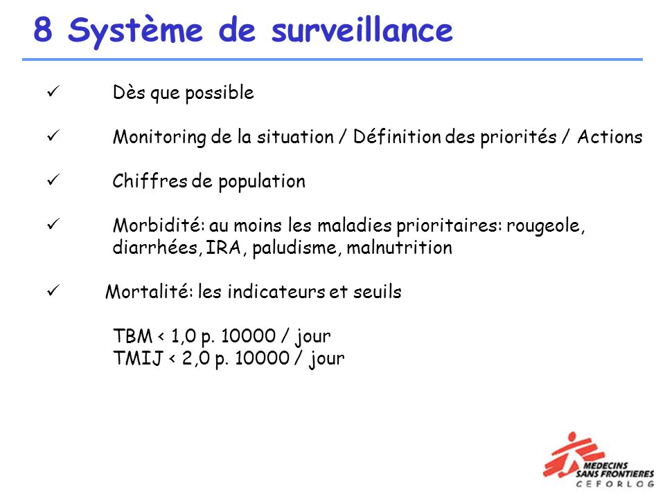 8 Système de surveillance