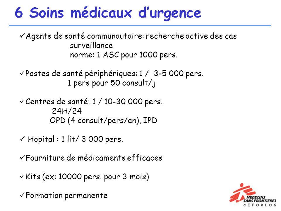 6 Soins médicaux d'urgence