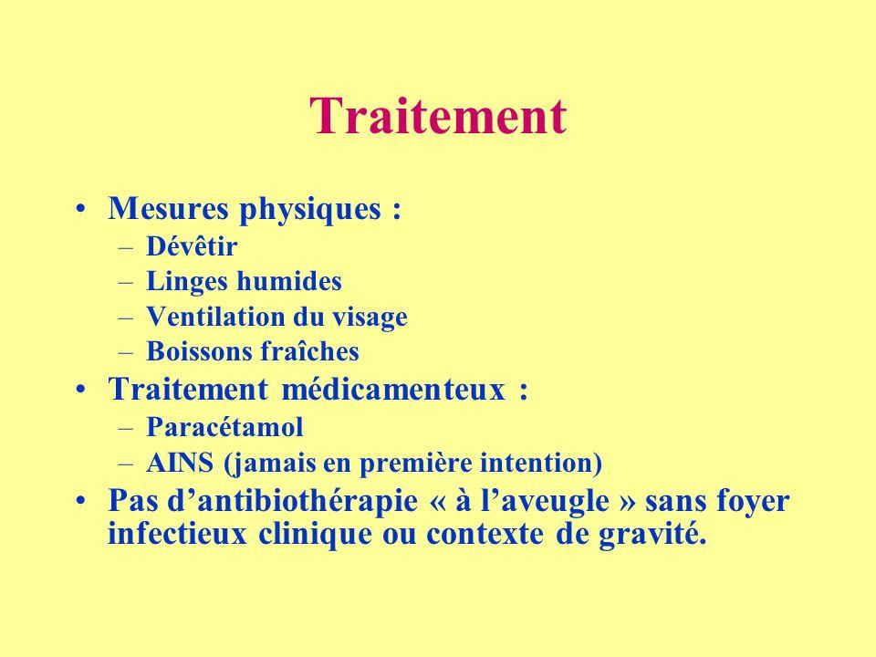 Traitement Mesures physiques : Traitement médicamenteux :
