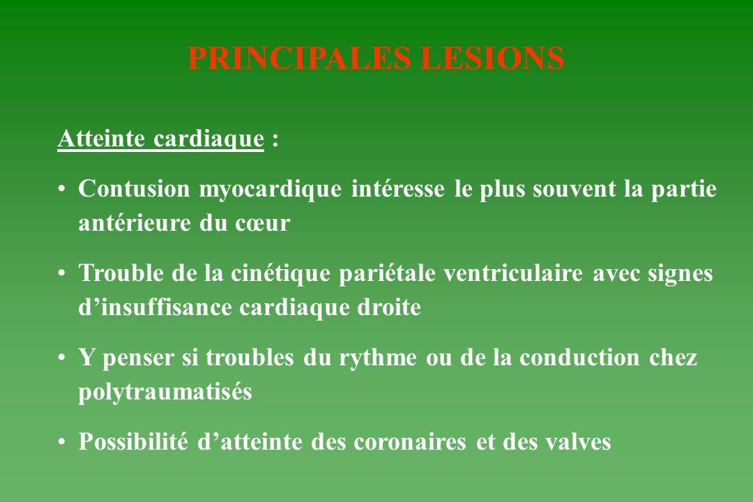 PRINCIPALES LESIONS Atteinte cardiaque :