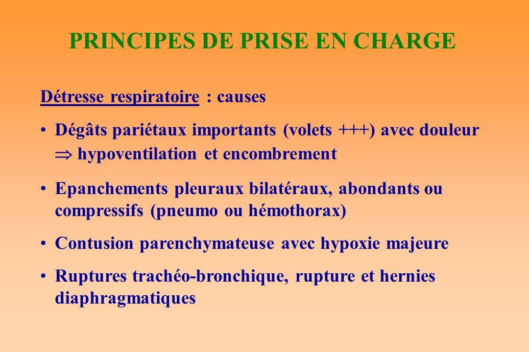 PRINCIPES DE PRISE EN CHARGE