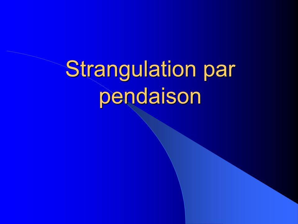 Strangulation par pendaison
