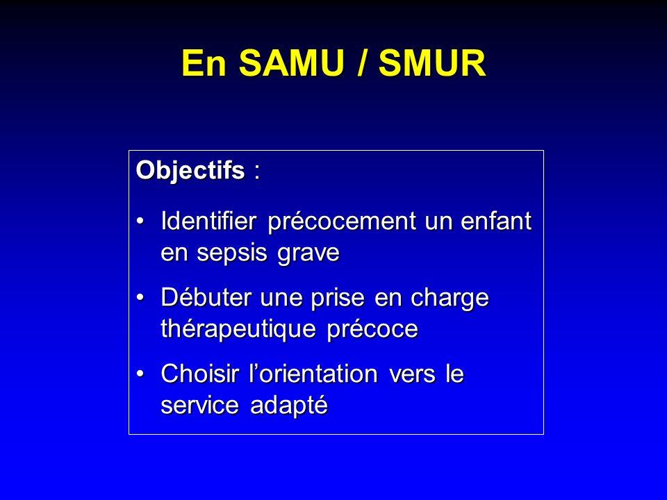 En SAMU / SMUR Objectifs :
