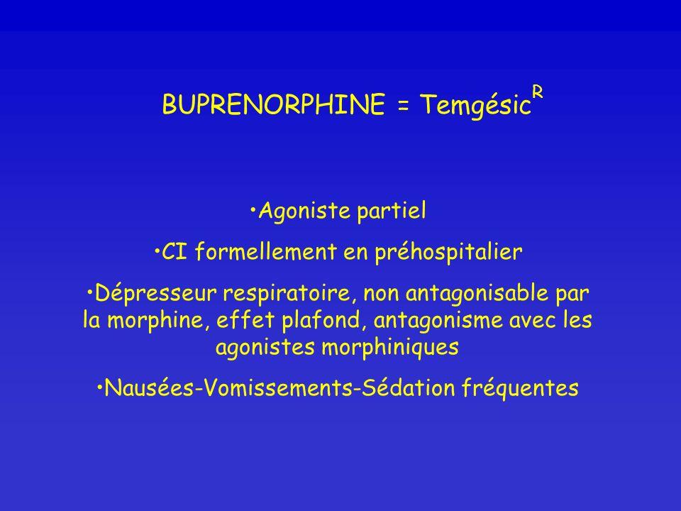 BUPRENORPHINE = TemgésicR