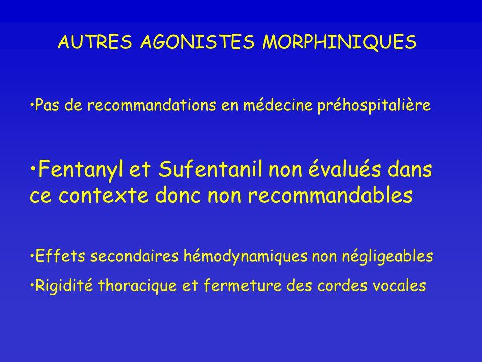 AUTRES AGONISTES MORPHINIQUES