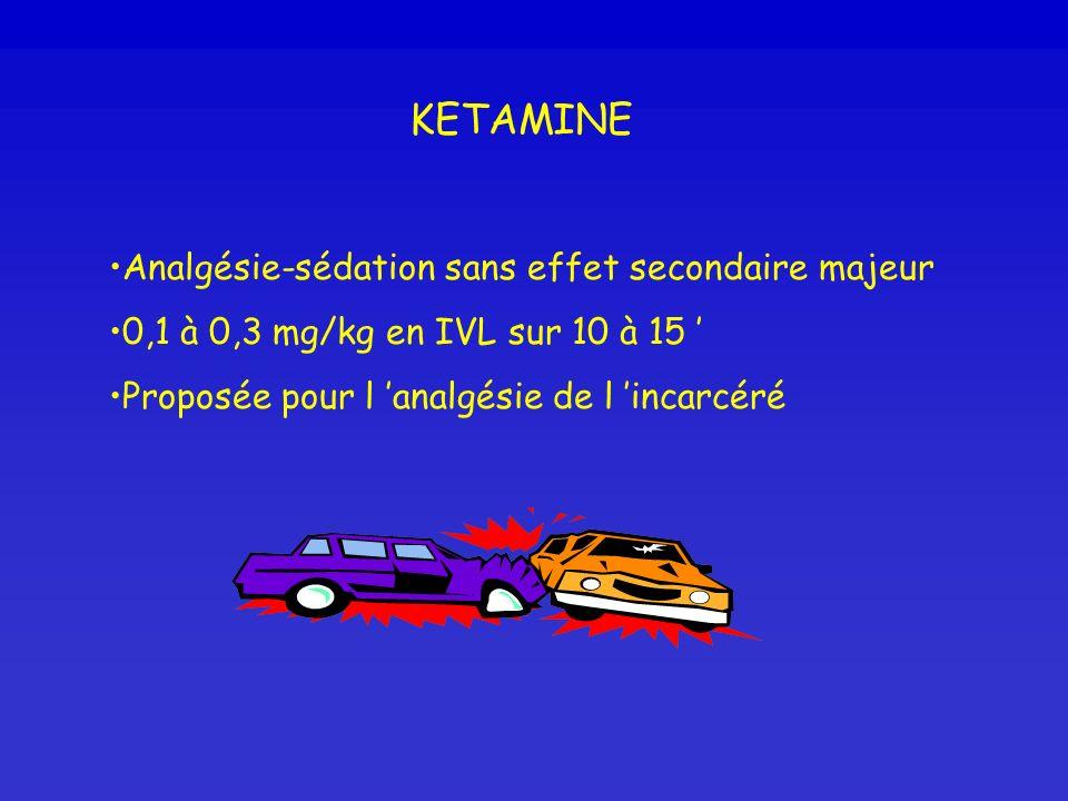 KETAMINE Analgésie-sédation sans effet secondaire majeur