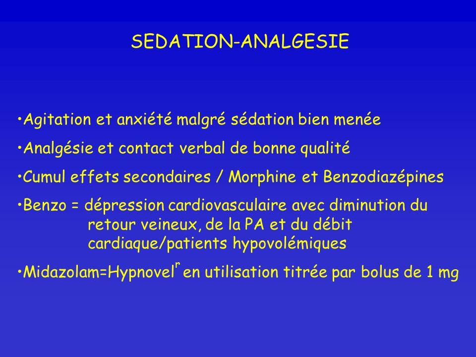 SEDATION-ANALGESIE Agitation et anxiété malgré sédation bien menée
