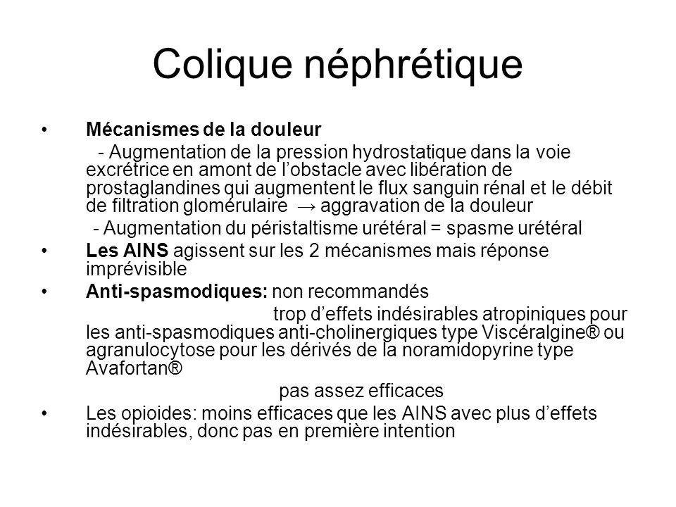 Colique néphrétique Mécanismes de la douleur