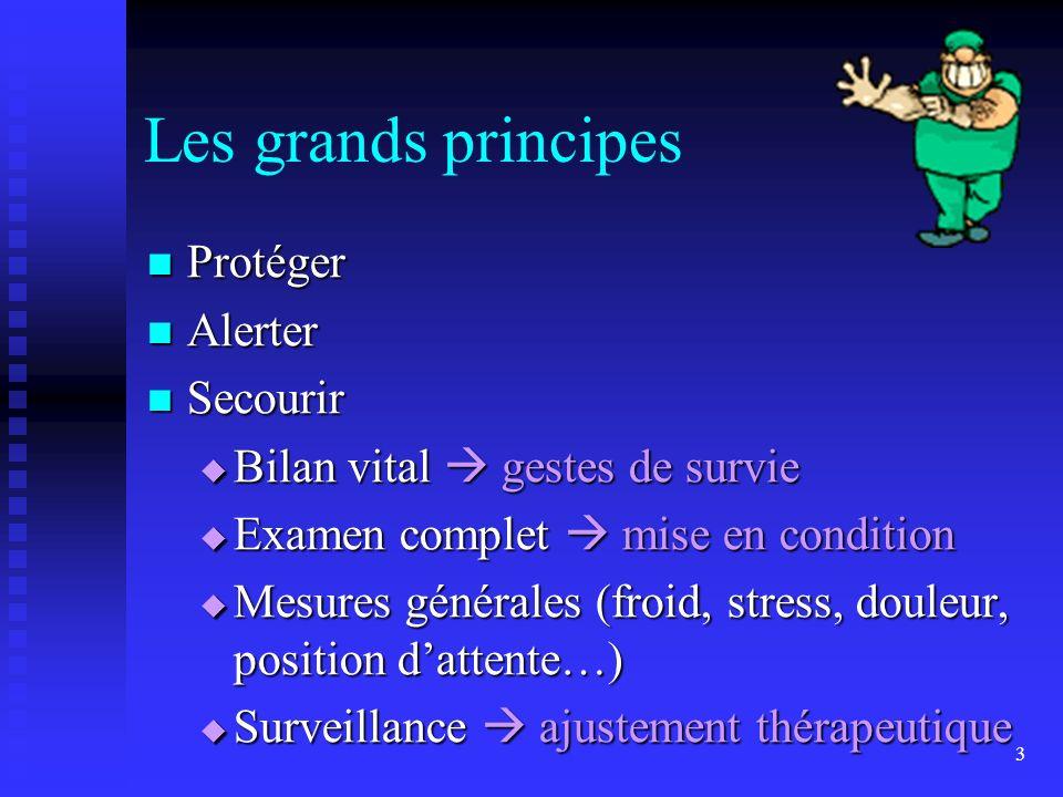 Les grands principes Protéger Alerter Secourir