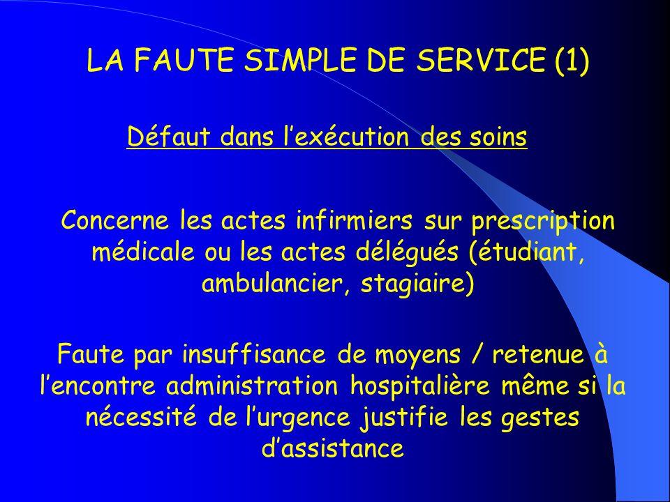 LA FAUTE SIMPLE DE SERVICE (1)