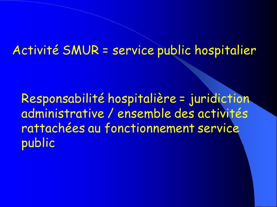 Activité SMUR = service public hospitalier