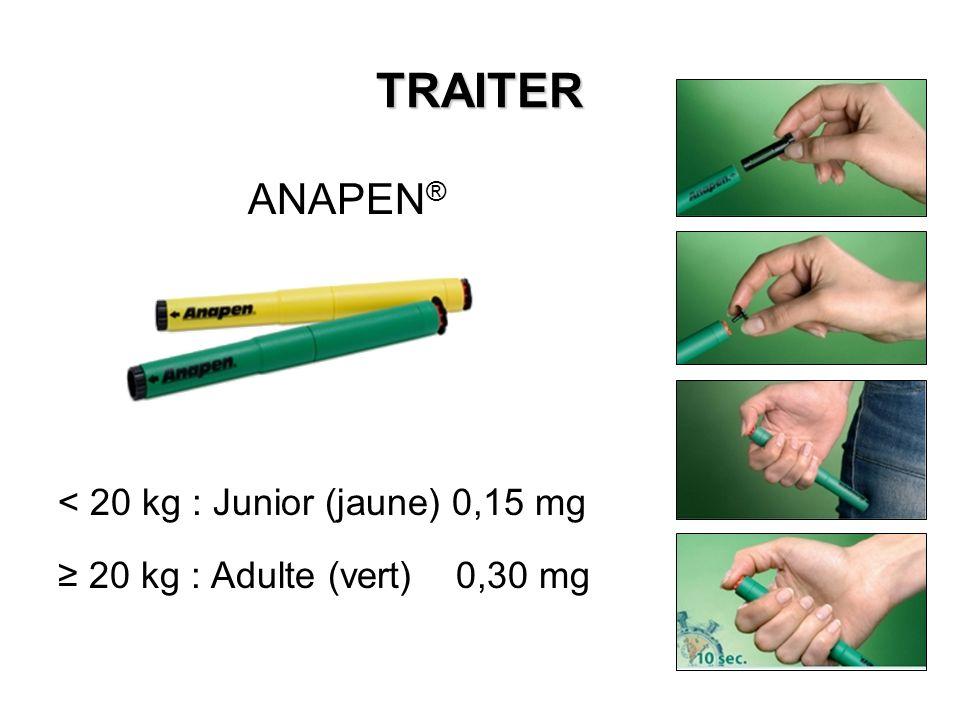TRAITER ANAPEN® < 20 kg : Junior (jaune) 0,15 mg