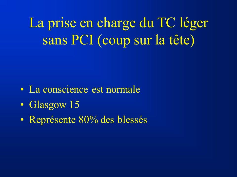 La prise en charge du TC léger sans PCI (coup sur la tête)